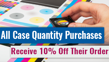 All Case Quantity Purchases Receive 10% Off Their Order